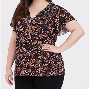 NWT Torrid Paisley Lace Tee
